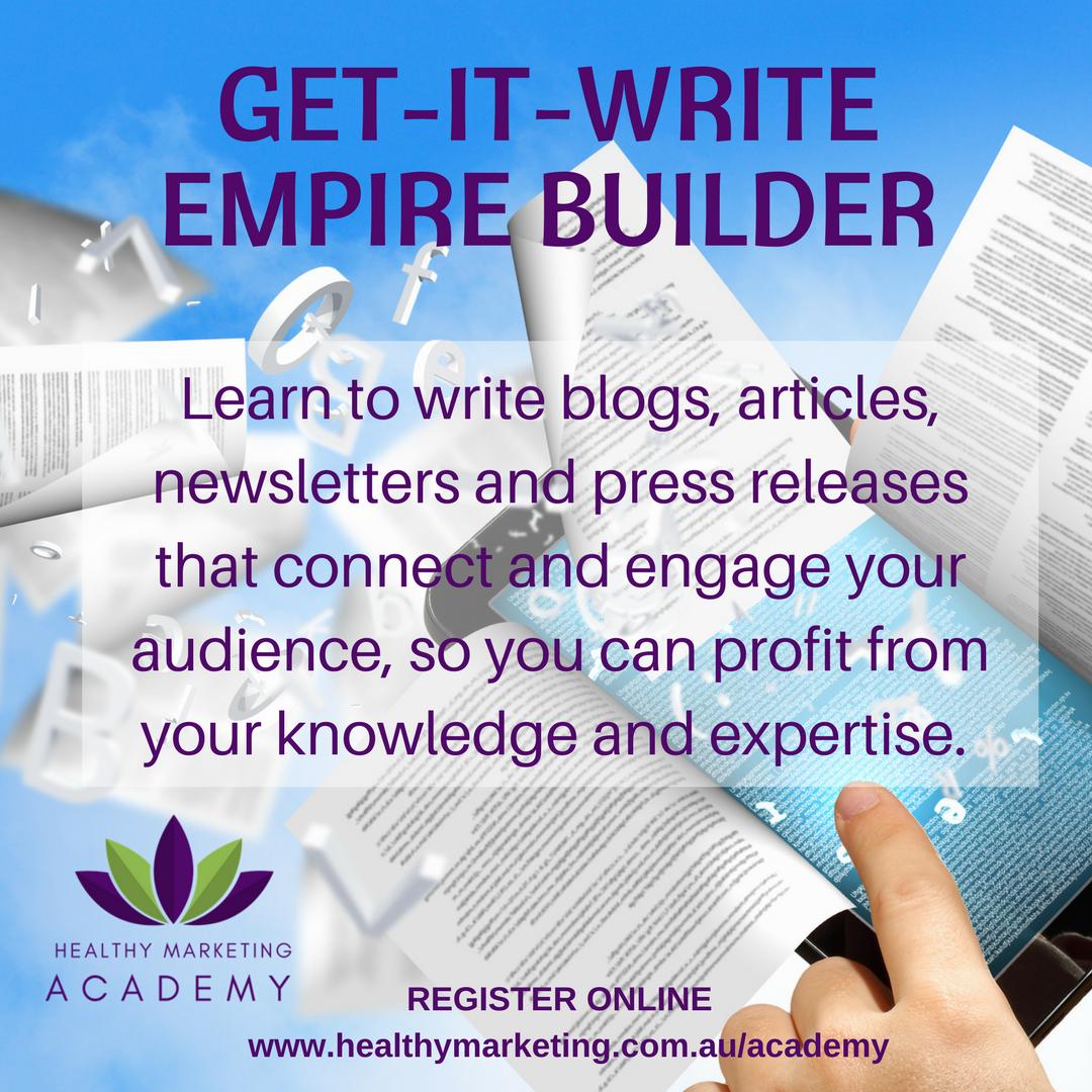 Get-It-Write Empire Builder